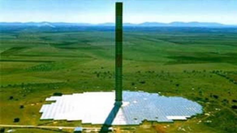نیروگاه حرارتی دودکش خورشیدی