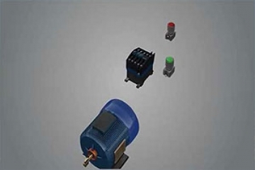 راه اندازی موتور سه فاز با شستی و کنتاکتور